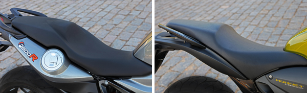 banco e bocal BMW BMW F 800 R x Honda CB 600F Hornet