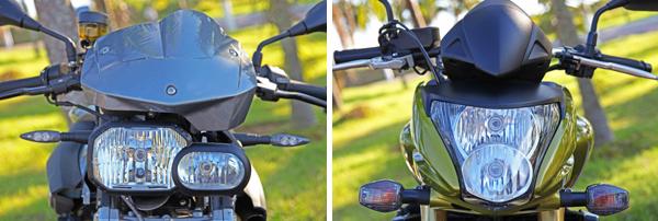 farol1 BMW F 800 R x Honda CB 600F Hornet