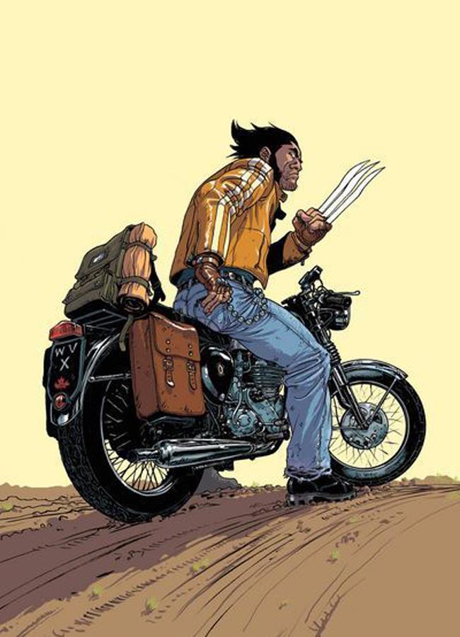 motorcycle logan wolverine triumph Heróis dos quadrinhos em duas rodas