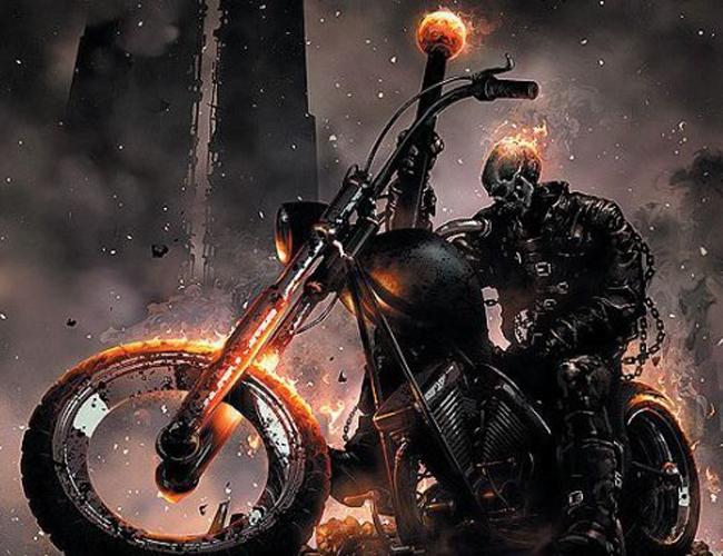 o motoqueiro fantasma Heróis dos quadrinhos em duas rodas