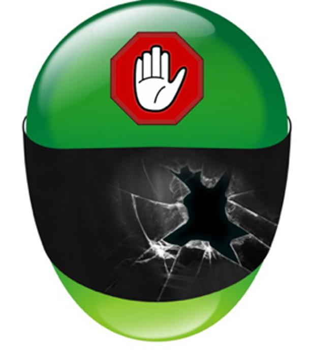 capacete quebrado Acidentes com motos dispara no Espírito Santo